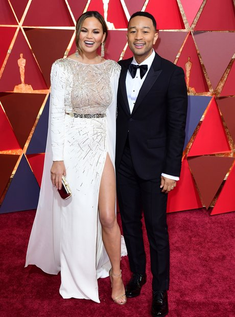 John Legend and Chrissy Teigen at the Oscars 2017