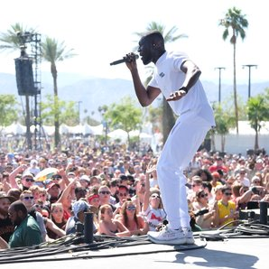 Stormzy performing at Coachella 2017