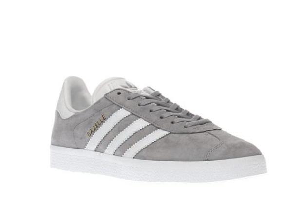 adidas light grey gazelle snake trainers