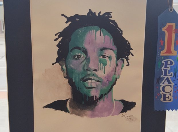 Kendrick Lamar painting by student wins competitio