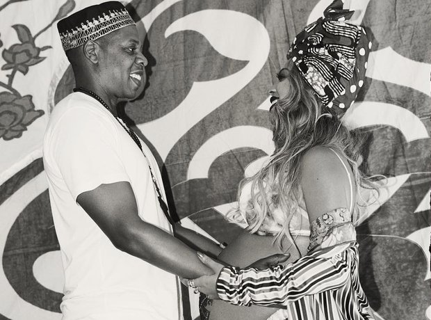 Beyonce and Jay Z at their 'Carter Push Party'